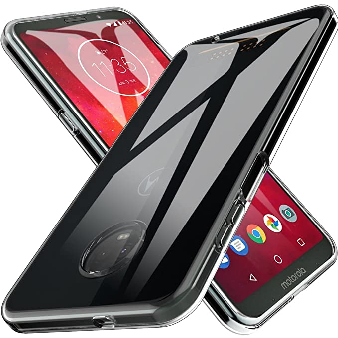 LK Case for Moto Z3 Play, Moto Z3 Ultra [Slim Thin] Scratch Resistant TPU Rubber Soft Skin Silicone Protective Case Cover for Motorola Moto Z3 Play - ...