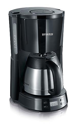 """Severin 4131 KA 4141 Cafetera con Jarra Termo de Acero INOX. Select"""", 1000 W, 1 Liter, Negro y gris"""