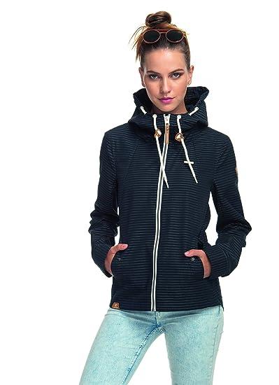 Ragwear 1811 60014 MONADE Stripes 100% vegane Jacke mit Kapuze und Streifenmuster