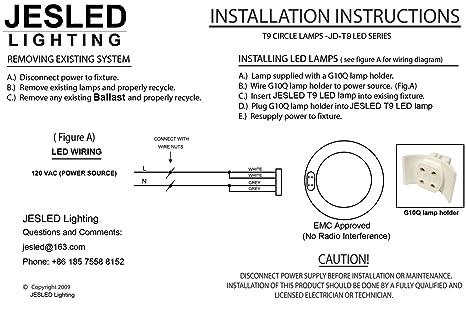 71jaXckFQUL._SX466_ 8 inch circline 10w t9 led light bulb cool white 4100k, replacement