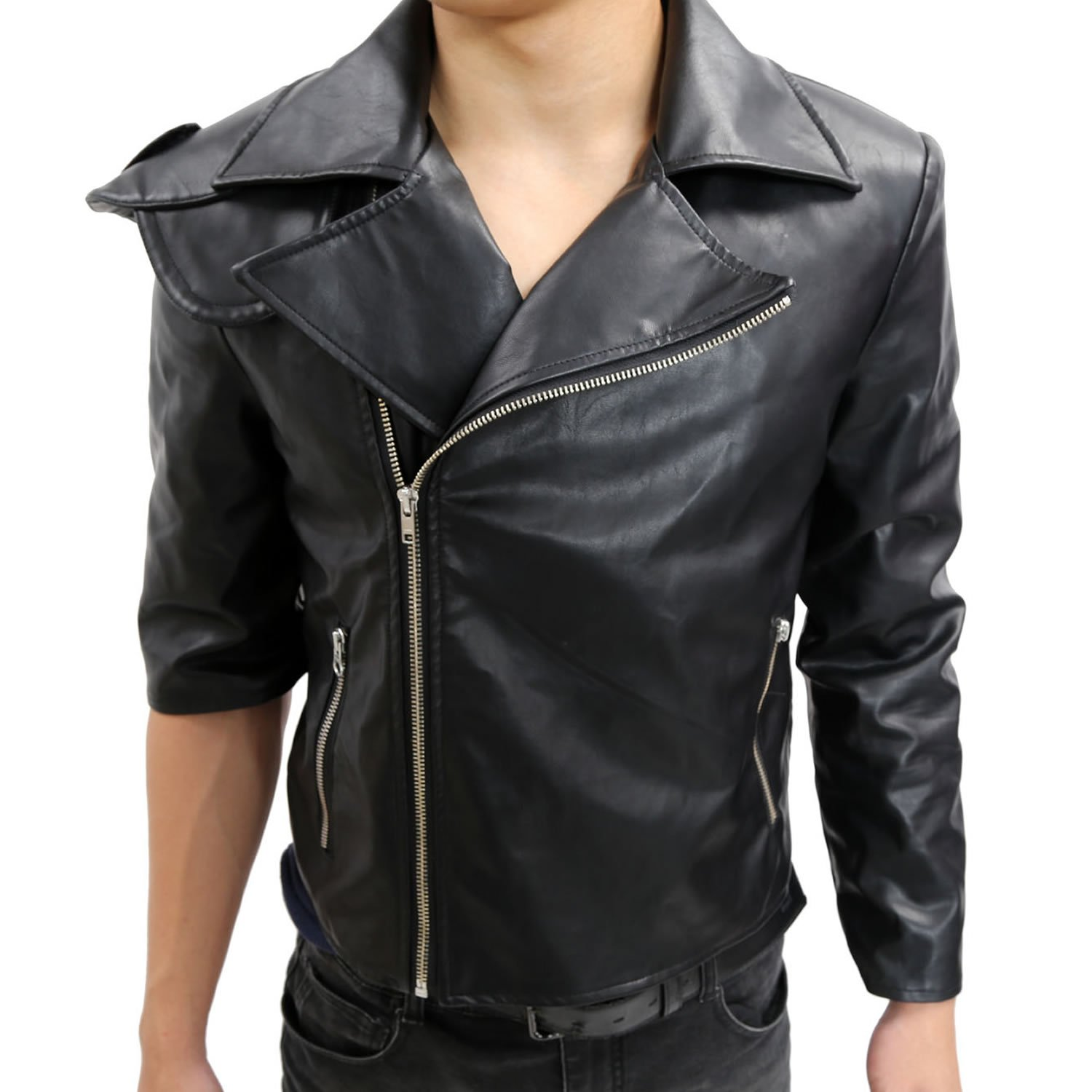 Halloween Men's Max Leather Jacket Coat Costume Black