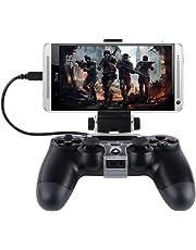 megadream? Flexible universel Smart Android téléphone portable Jeu Pince pour manette de Playstation PS3avec Android téléphone Samsung Galaxy S6Edge S5S4Note4Note 3, HTC, Sony Xperia Z3Z2Noir