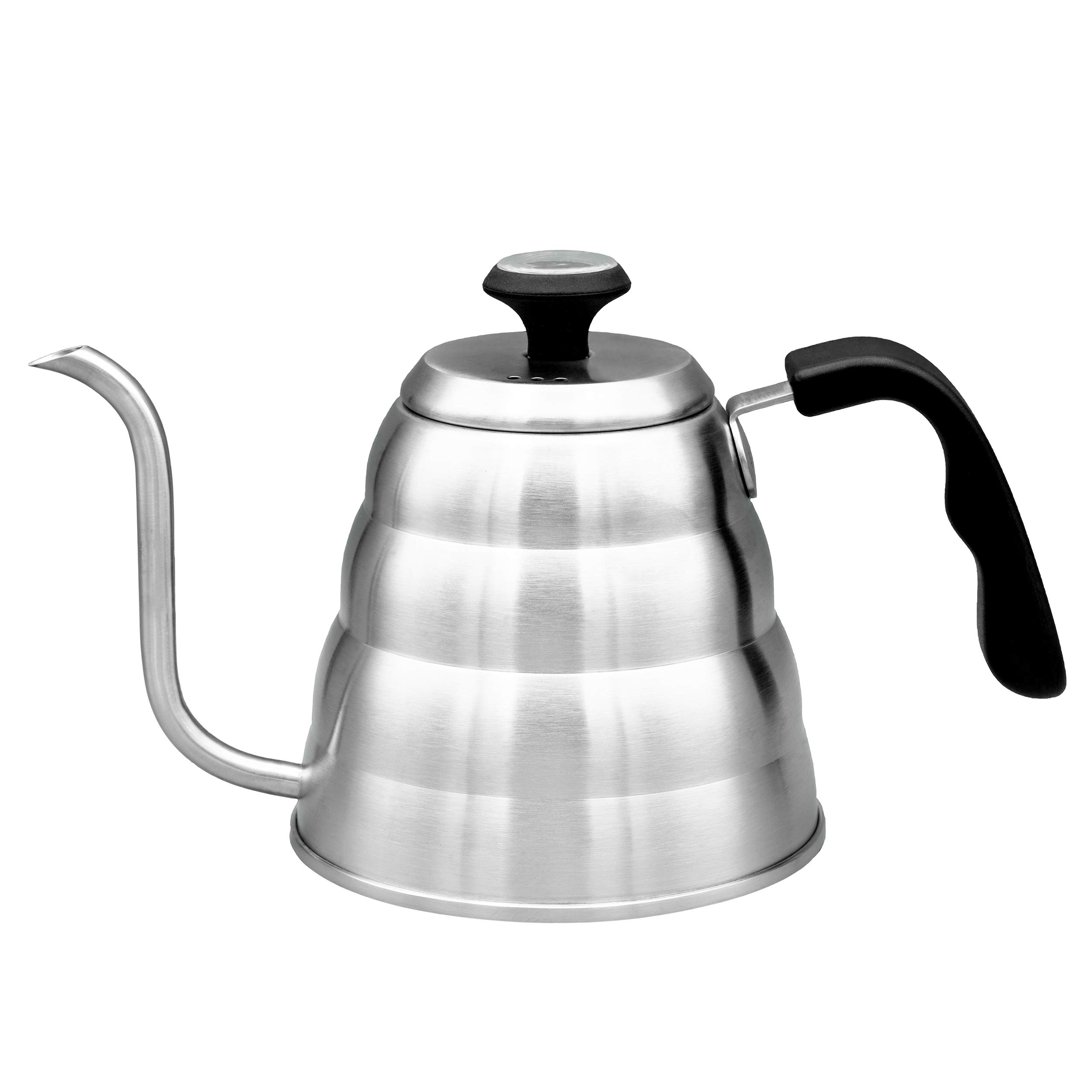 Pour Over Coffee Kettle With Gooseneck Spout by Culinary Foundry - 1.2 Liter Capacity Made of Premium Stainless Steel With Built-In Thermometer - Achieves Perfect Water Temperature Every Time by Culinary Foundry (Image #6)