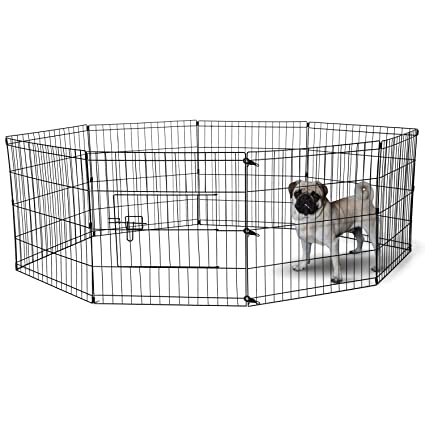 1d39627a89ed Dog Exercise Pen Pet Playpens for Dogs - Puppy Playpen Outdoor Back or  Front Yard Fence Cage Fencing Doggie Rabbit Cats Playpens Outside Fences  with Door ...