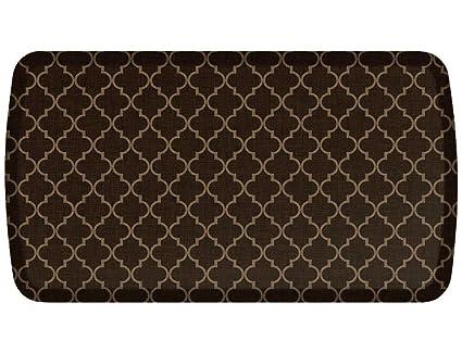 Gelpro Elite Premier Anti Fatigue Kitchen Comfort Floor Mat 20x36 Lattice Java Stain Resistant Surface With Therapeutic Gel And Energy Return Foam