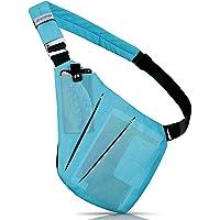 ZOMAKE Sling Bag Waterproof Chest Crossbody Bag Anti Theft Multipurpose Daypack Travel Backpack