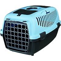 Trixie Capri 39822 Cage de transport 2 animaux Bleu foncé/gris clair 37 x 34 x 55 cm
