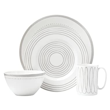 Kate Spade New York Charlotte Street West Grey 4pc Place Setting, White