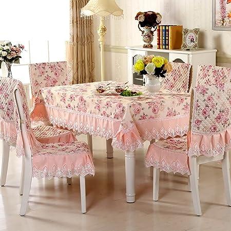 paño/mantel de jardín/Juego de sillas de comedor cojín/mantel/Cojín/mantel/Set de cubre sillas manteles-J 130x130cm(51x51inch): Amazon.es: Hogar