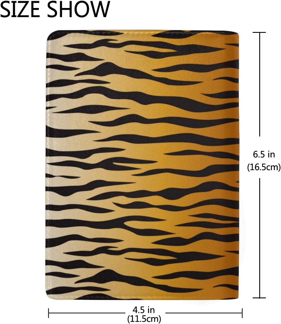 Cover For Passport Animal Skin Tiger Stripes Black Stylish Pu Leather Travel Accessories Leather Passport Holder Cover For Women Men