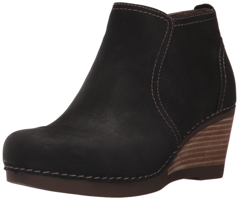 Dansko Women's Susan Ankle Bootie B01MS29MYJ 36 EU/5.5-6 M US|Black Nubuck