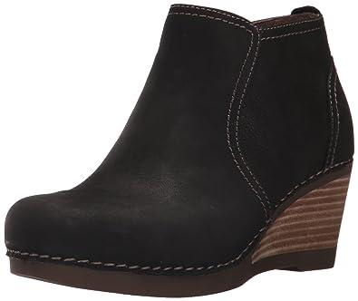 Dansko Women's Susan Ankle Bootie, Black Nubuck, 36 EU/5.5-6 M