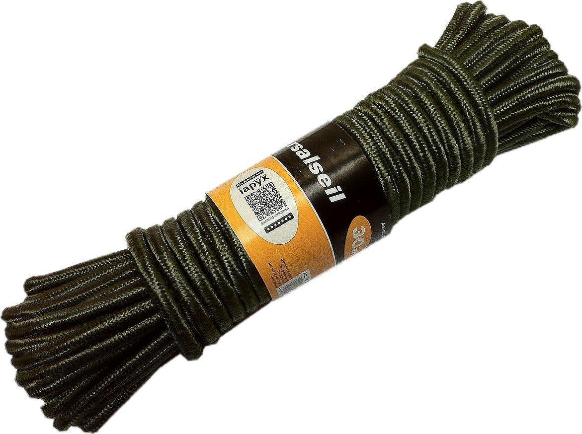 iapyx/® 30 m Corde en Maille tress/ée pour ext/érieur Vert Olive