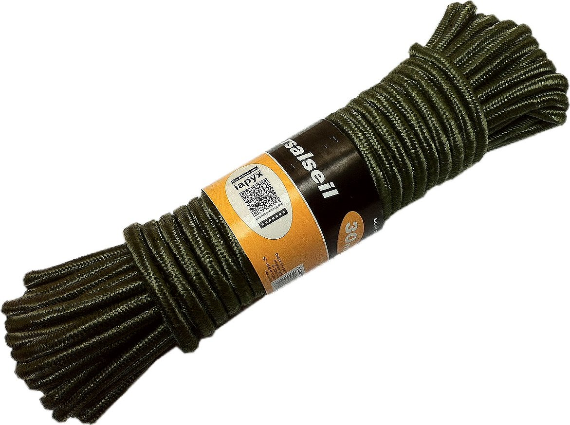 iapyx® 4260246943004 - Cuerda específica de escalada, color verde oliva, talla 30m iapyx®