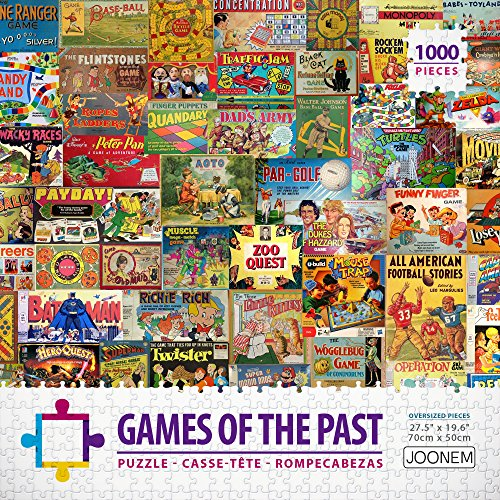 Joonem Puzzles Games Of The Past - 1000 Piece Jigsaw Puzzle Photo Collage