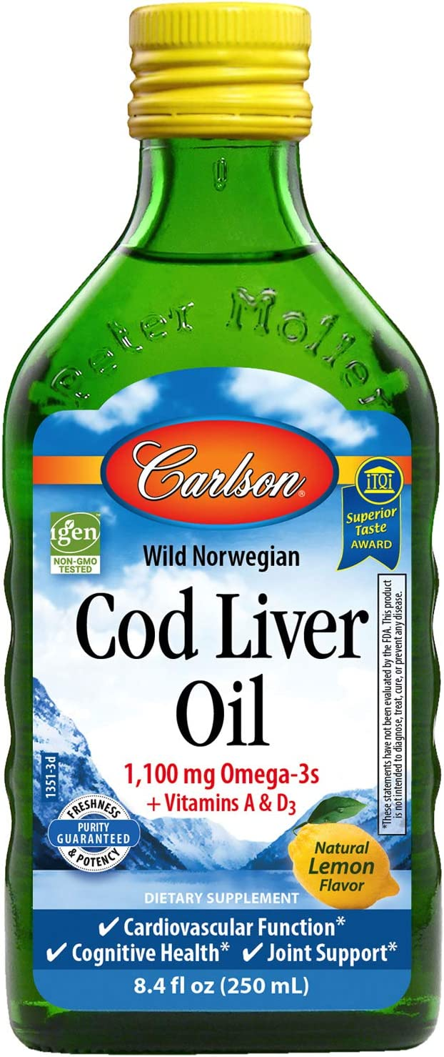 Carlson - Cod Liver Oil 1100 Fish Suppl Liquid mg Cheap super New product! New type special price Omega-3s