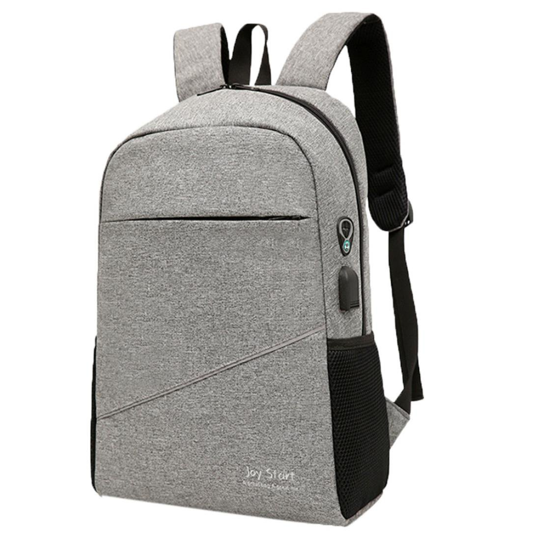 School Book Bags for Men Boys,Jchen(TM) Clearance Sale! Men Backpacks Travel Bag Women School Bag Fashion Travel School Bags Bag Packs (Gray)