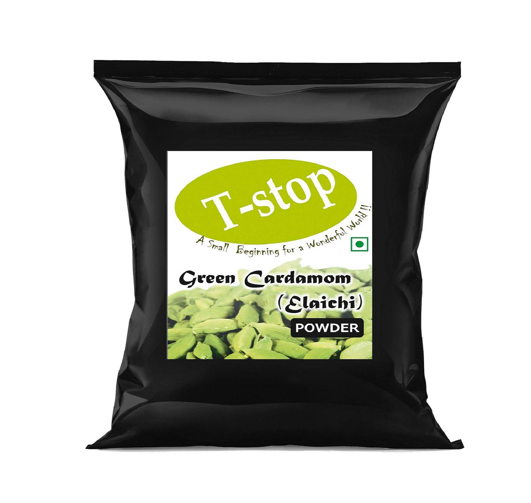 T-stop Green Cardamom Powder Both Pods & Seeds Included Pack of 2- Each 25gm