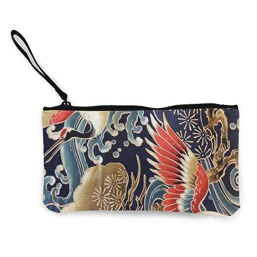 5917a6dbff5d Amazon.com: Japanese Crane Art Wallets for Women Card Holder Zipper ...