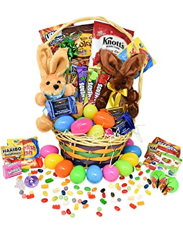Easter Gift Basket Toys Filled Eggs Hunt Chocolate And Candy Snacks