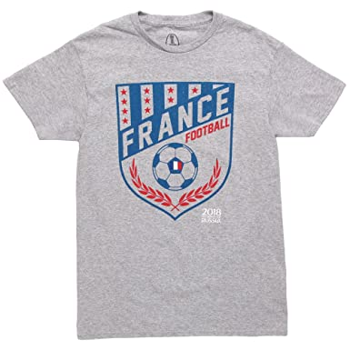 f06a9427d Amazon.com: World Cup 2018 France Crest Adult T-Shirt: Clothing