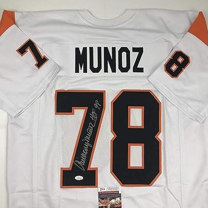 Amazon.com: Autographed/Signed Anthony Munoz HOF 98 ...