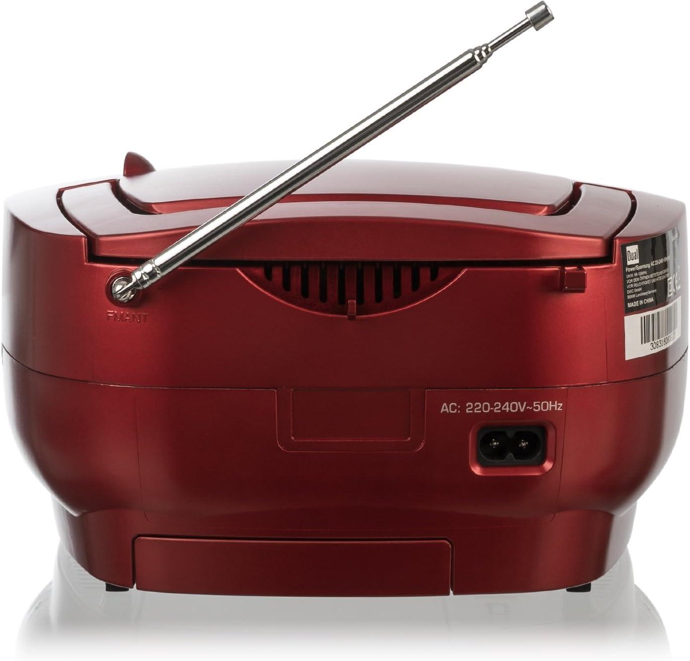 Dual P 49/ Radio FM, Pantalla LED, Funcionamiento con Red o bater/ía /1/Boom Box con Reproductor de CD