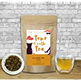 TeaTreasure Slimming Tea - Whole leaf Slim Tea - Natural Ingredients: Moringa, Seabuckthrone, Licorice, Ginger, Cinnamon, Rose, Wellness Tea - meltdown saturated fat , contains proteins - Loose Leaf Tea - 100 Gm
