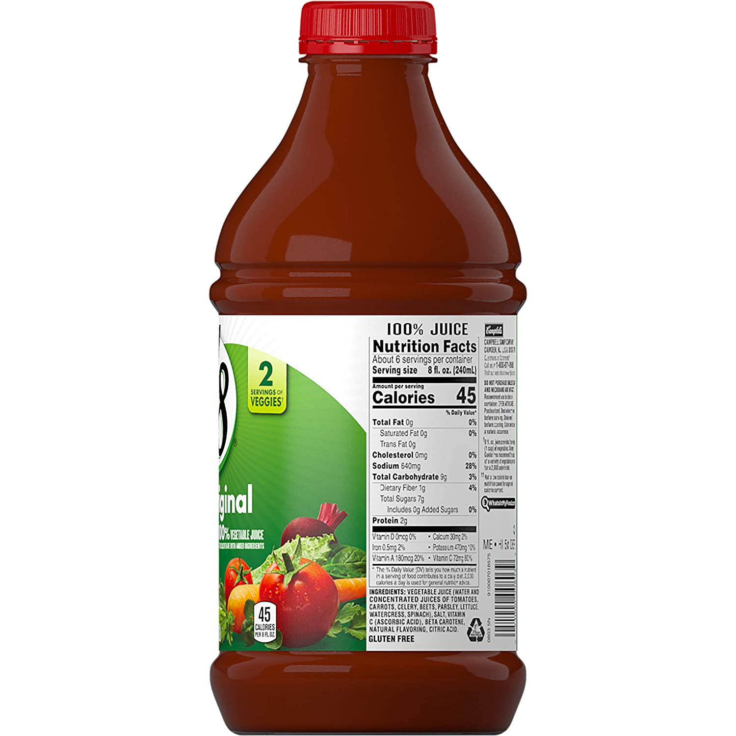V8 Original 100% Vegetable Juice, 46 oz