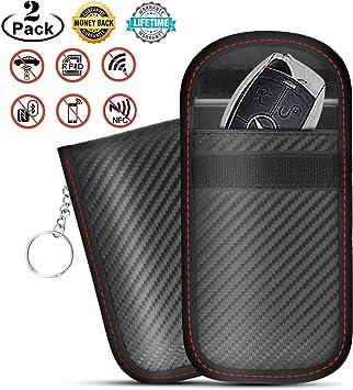 Emoepak - Funda para llave de coche (2 unidades), bolsa Faraday para llaves de coche sin llave,