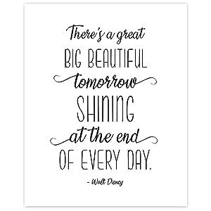 Original Inspirational Walt Disney Quote Poster Prints, Set of 1 (8x10) Unframed Photos, Wall Art Decor Gifts Under 15 for Home, Office, School, College Student, Teens, Teacher, Partner, Literary Fan
