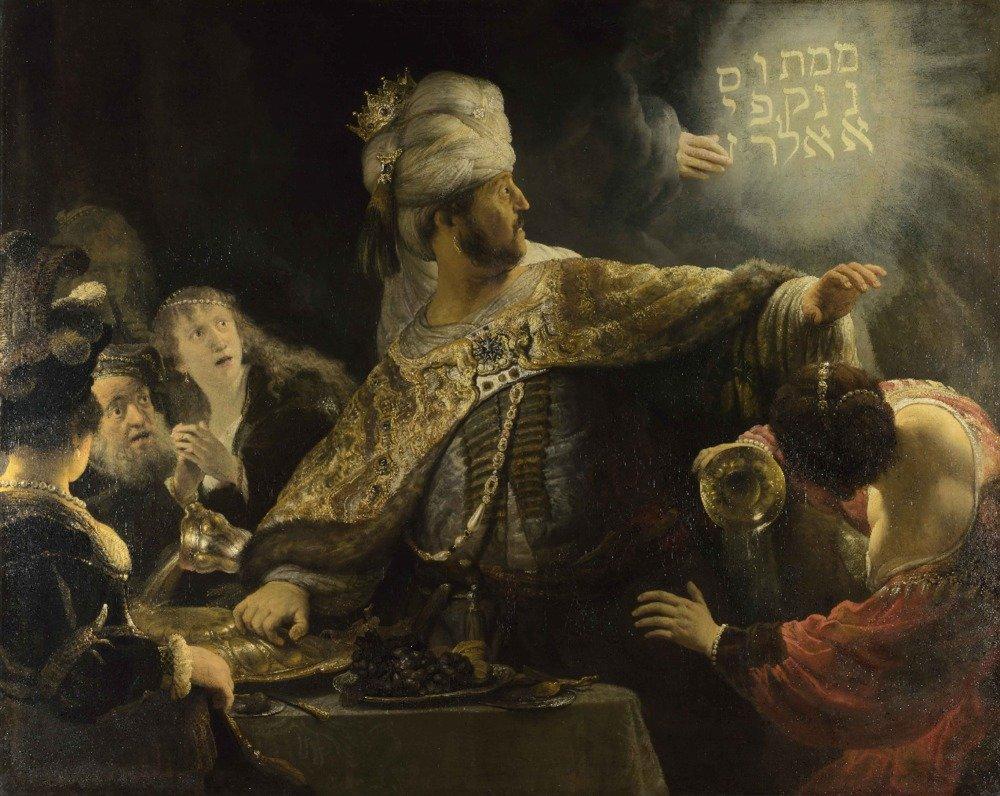 ベルシャザールの饗宴 – 傑作クラシック – アーティスト: Rembrandt van Rijn C。1635 12 x 18 Art Print LANT-57251-12x18 B017Z7FTW4  12 x 18 Art Print