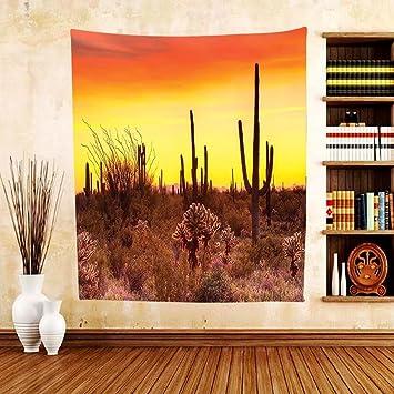 Amazon.com: Gzhihine Custom tapestry Saguaro Cactus Decor Tapestry ...