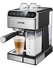 Aicook Cafetera, Cafetera Espresso 15 Bares Capacidad 1.8L Espumador de Leche para Cappuccino y