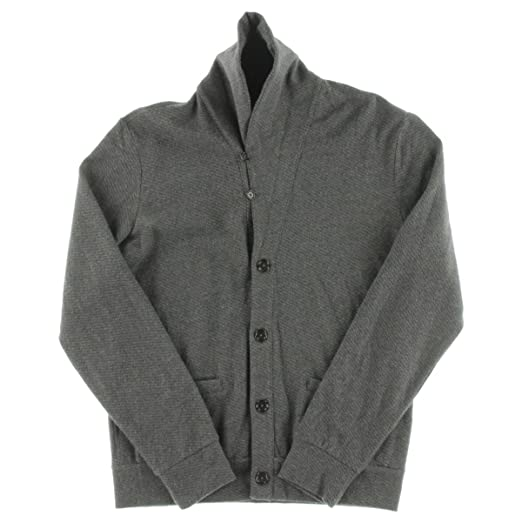 eb83d5c0544a Polo Ralph Lauren Mens Jacquard Fleece Shawl Collar Cardigan Sweater Gray L  at Amazon Men s Clothing store