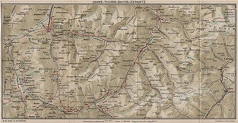 Amazoncom CHUR DAVOS ZERNETZ Klosters Arosa Churwalden