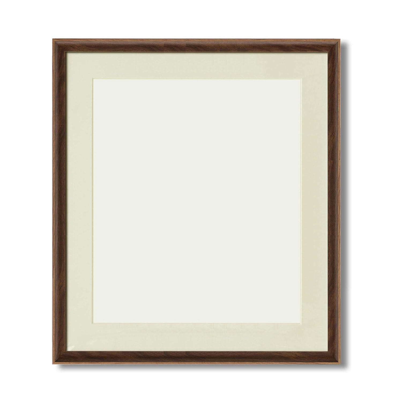 【軽量水彩額】マット壁掛けひもアクリル付 ■8155水彩額F10(516×441) マット付(ブラウン) B01NCJCLOLブラウン F10