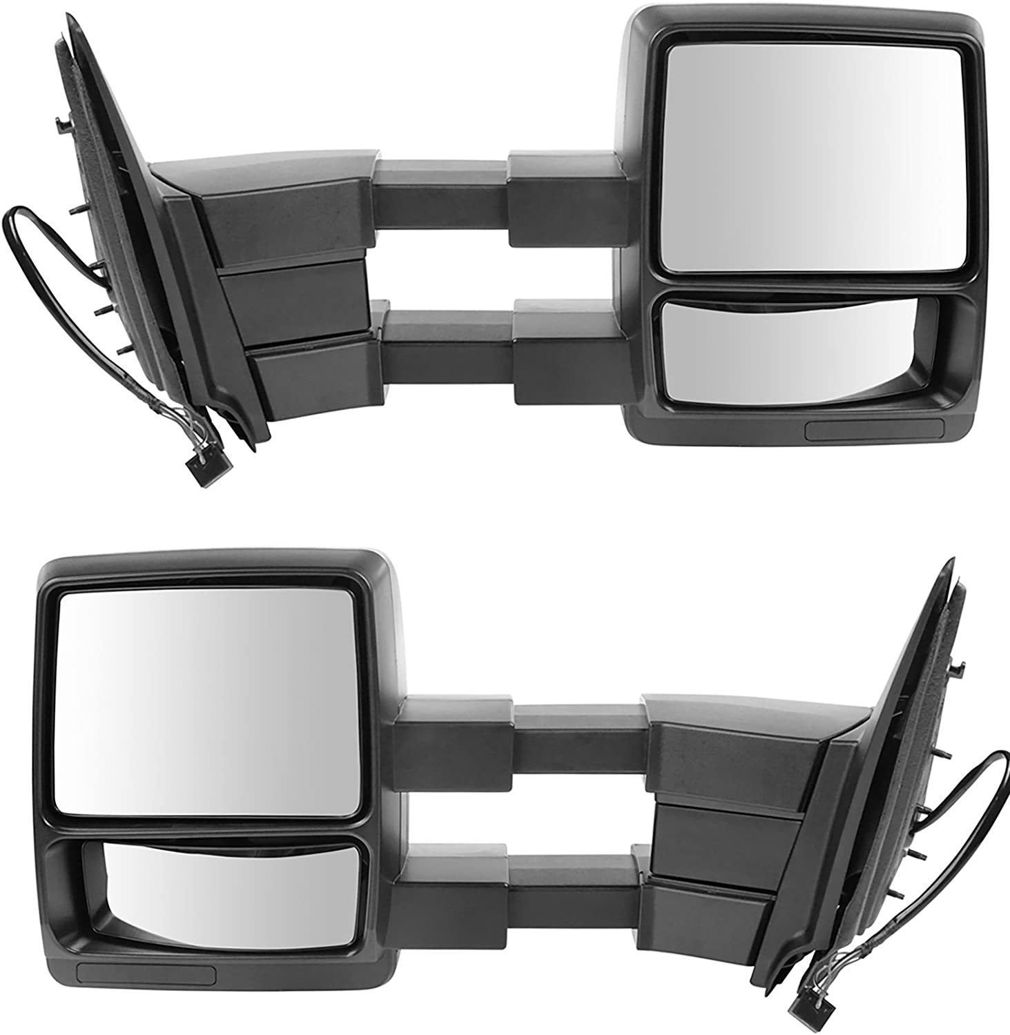 Trail Ridge Tow Mirror Power Heated Puddle Textured Black Pair for Expedition