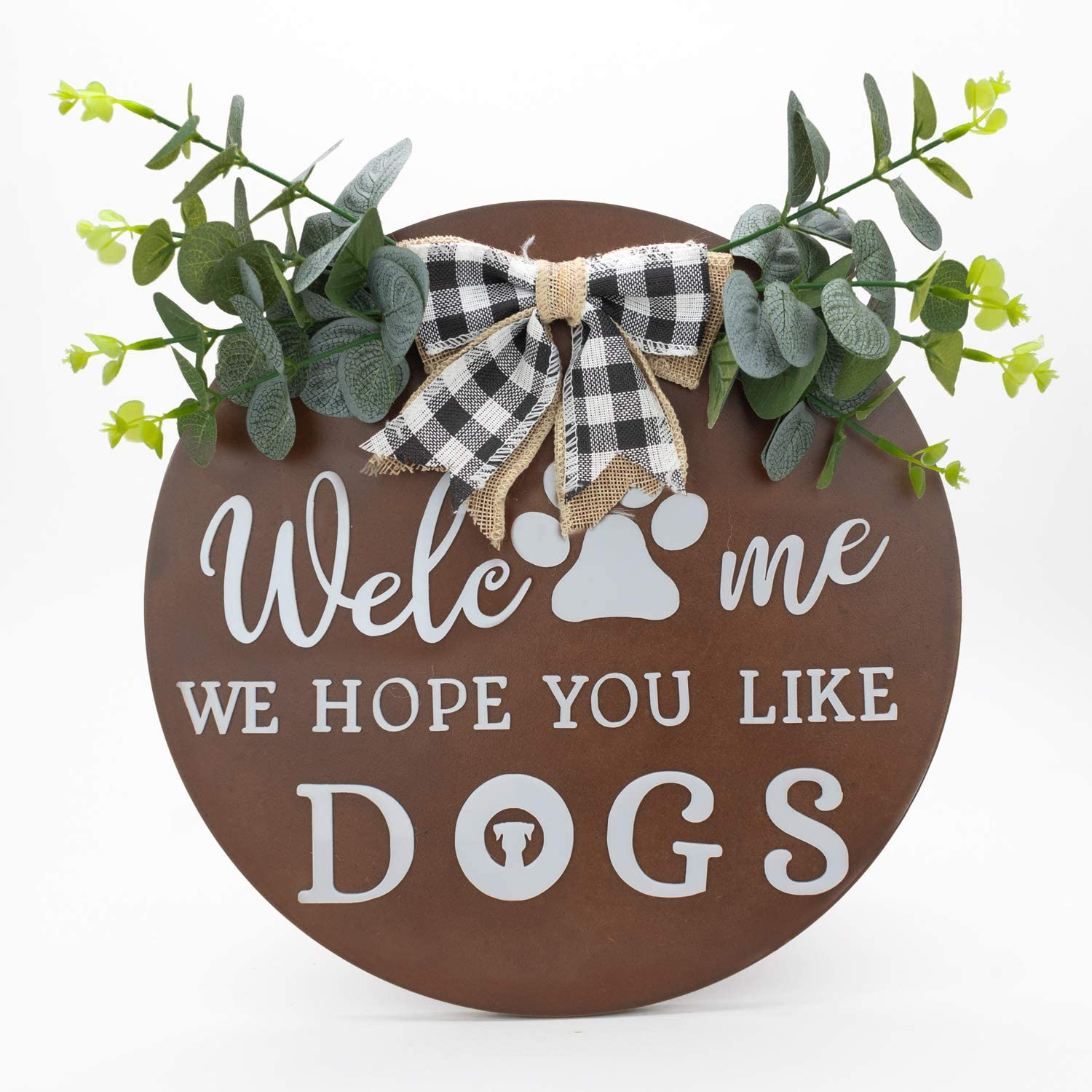 Welcome Sign   Welcome Sign For Front Door   Welcome Signs For Front Porch   Front Porch Decor   Porch Decor   Door Wreaths For Front Door Outside   Welcome We Hope You Like Dogs   US Brand
