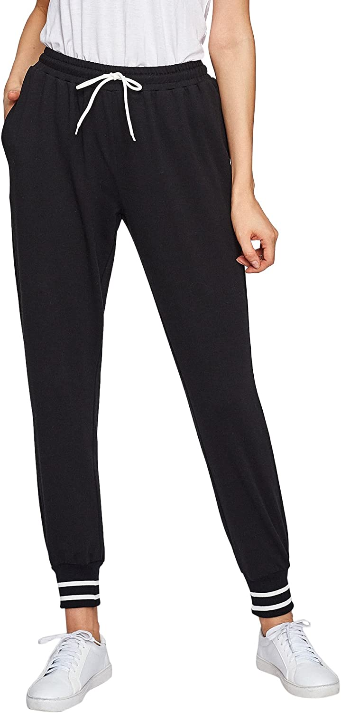 SweatyRocks Women's Causal Drawstring Waist Yoga Active Workout Long Pant with Pocket