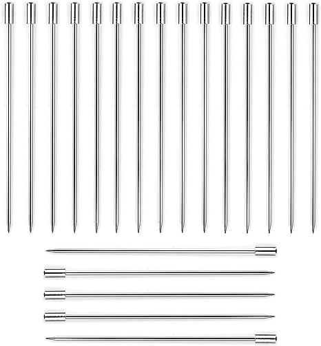 12pcs Stainless Steel Cocktail Picks Fruit Sticks Toothpicks Appetizer Pick