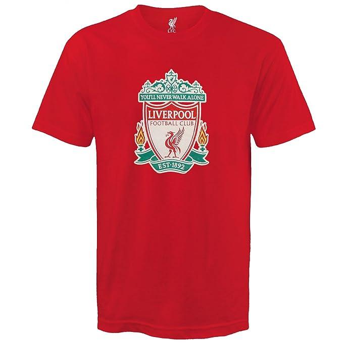 Liverpool FC - Camiseta oficial para hombre - Con el escudo del club - Azul -