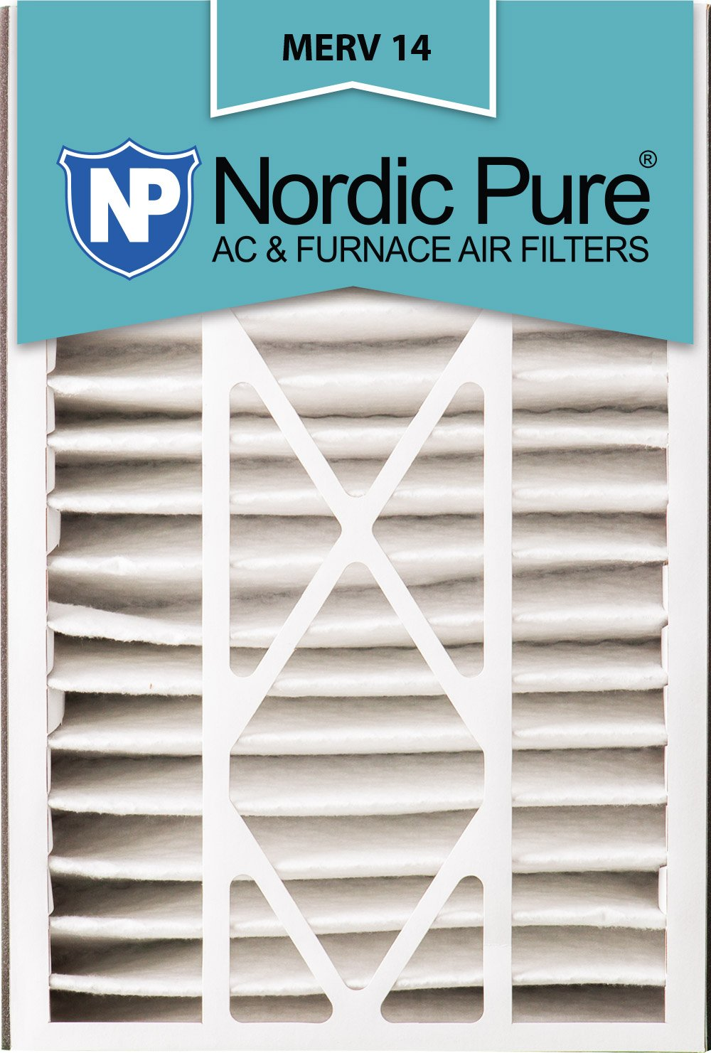 MERV 14 Trion Bear 266649-105 Replacement Pleated AC Furnace Air Filter 4-7//8 Actual Depth Nordic Pure 16x25x5 2 Pack