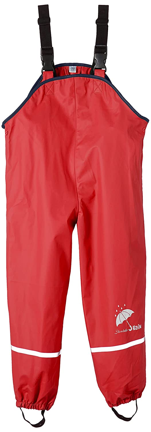 Sterntaler Children's Rain Trousers, Unlined, Age: 9-12 Months, Size: 80, Red 5651435