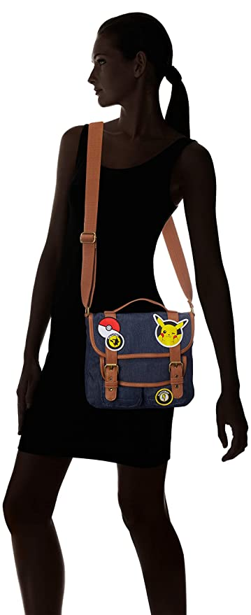 Amazon.com | Loungefly x Pokemon Pikachu Patches Messenger Bag (One Size, Multi) | Messenger Bags