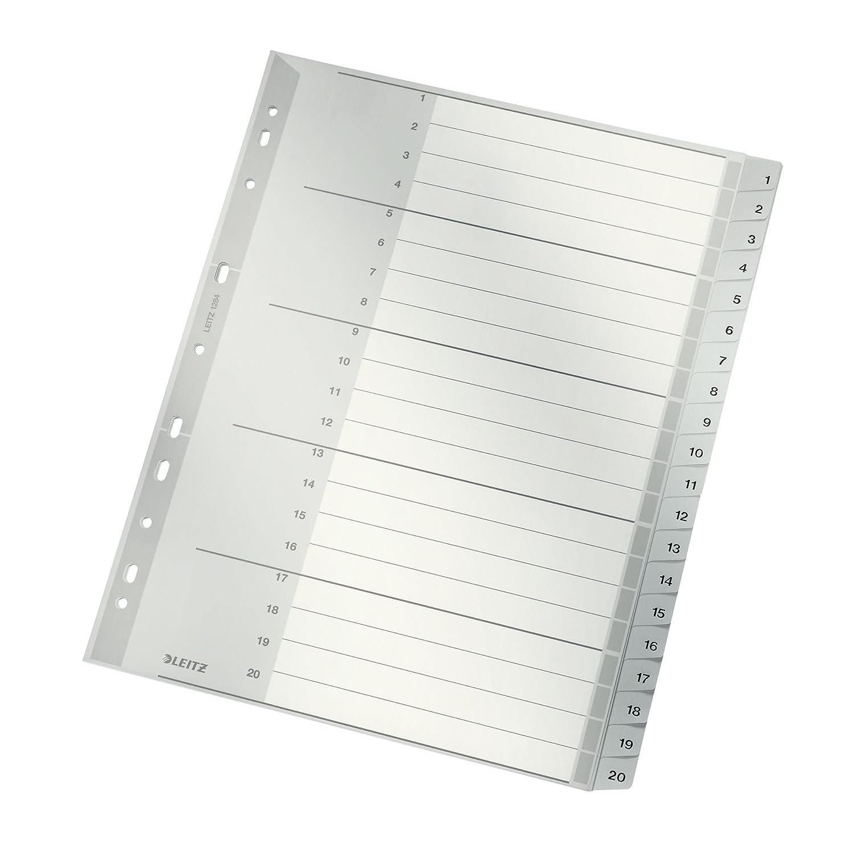 Leitz Rubrica numerica, Formato A4, Polipropilene, 12800100 Esselte 12800000