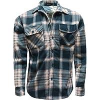 New Mens Shirt Polar Fleece Lined Thick Work Shirts Winter Warm M L XL XXL