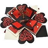 DecuT Multi Layered Handmade Explosion Box for Love Anniversary Photo Box Engagement Exploding Box