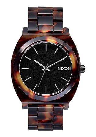 Nixon Time Teller Acetate - Reloj (Reloj de Pulsera, Masculino, Acero Inoxidable, Negro, Naranja, Acero Inoxidable, Negro, Naranja): Nixon: Amazon.es: ...