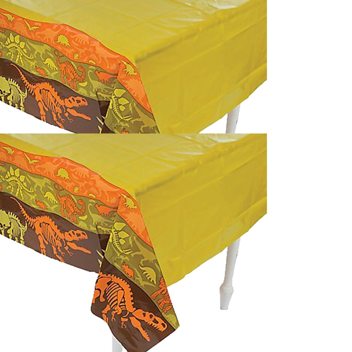 Party Supplies Inc. Plastic Dinosaur Dig Tablecloth - 54'' x 108'' (2 Pack)